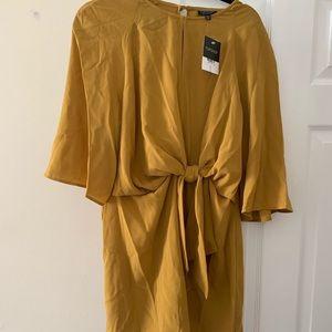 NEVER WORN Mustard Topshop dress